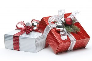 Red and silver gift box