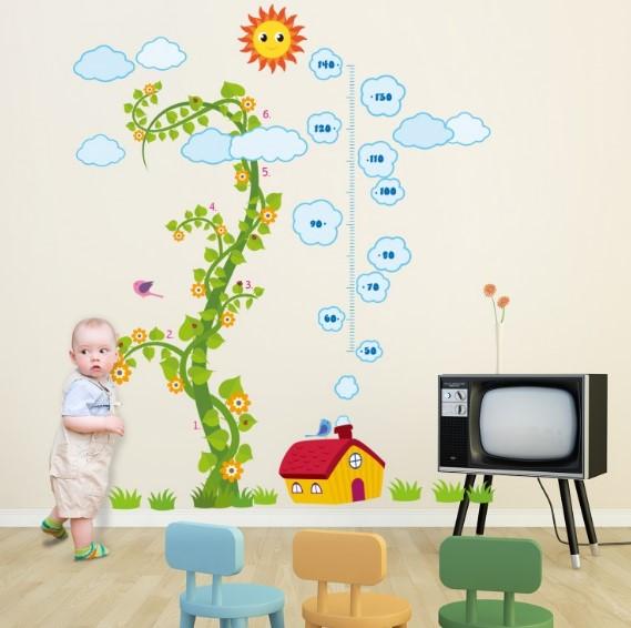 Otroško sobo opremite s privlačnimi in poučnimi stenskimi nalepkami